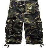 AYG Bermudas Cargo Shorts Hombres Pantalones Cortos Leisure Casual 29-40