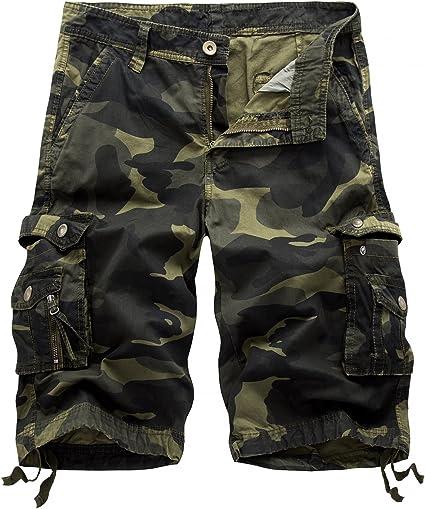 TALLA 28. Hakjay Pantalones cortos de carga para hombre (sin cinturón)