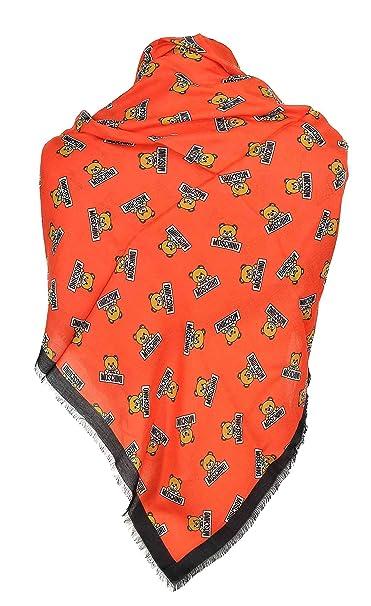 comprare popolare 10d2a 848e9 Moschino - Scialle donna orso rosso: Amazon.it: Abbigliamento