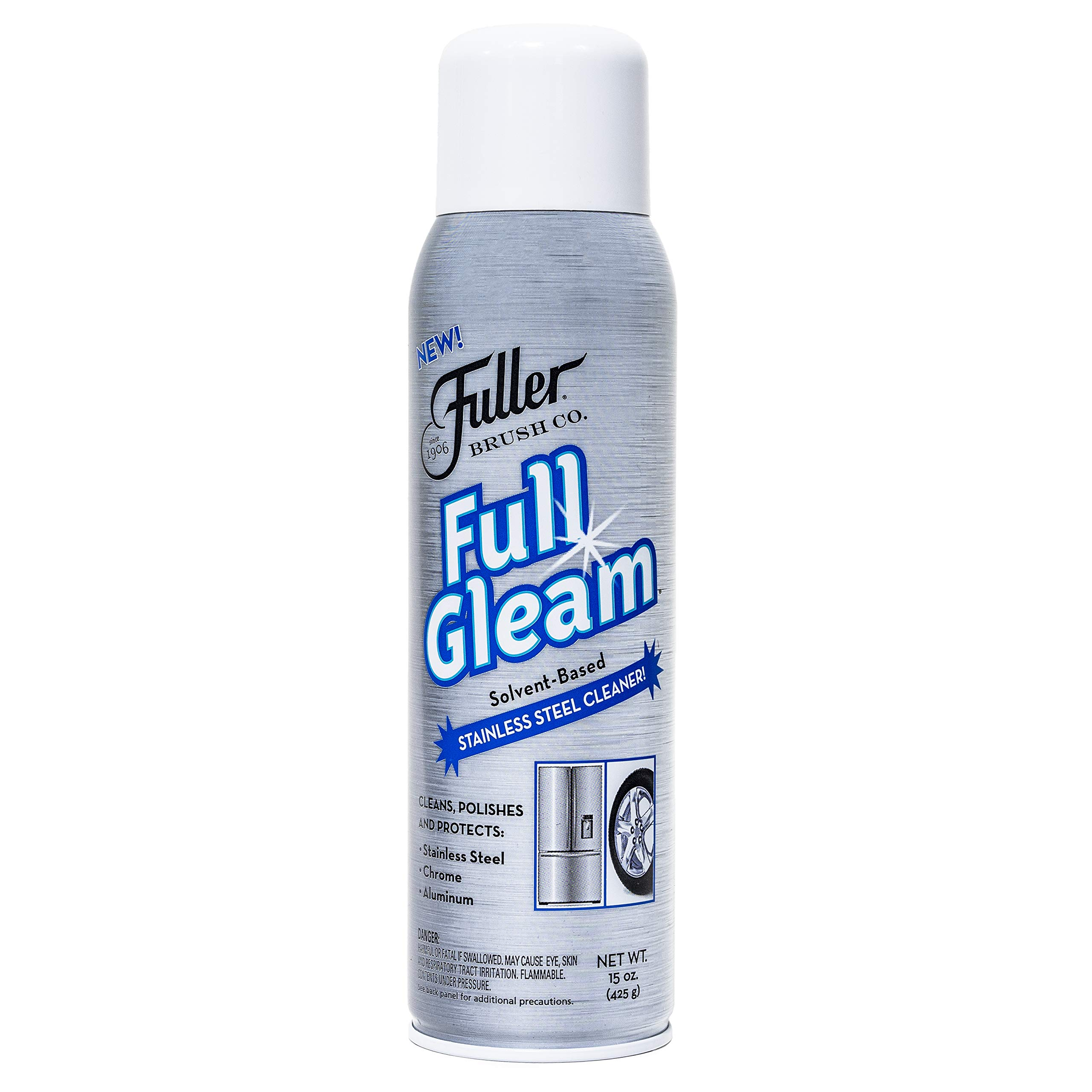 Fuller Brush Full Gleam Stainless Steel Cleaner - Chrome & Aluminum Conditioner Spray For Cleaning Pots, Pans, Cooktop & Kitchen Appliances - Easy Clean & Polish For Home & Business by Fuller Brush
