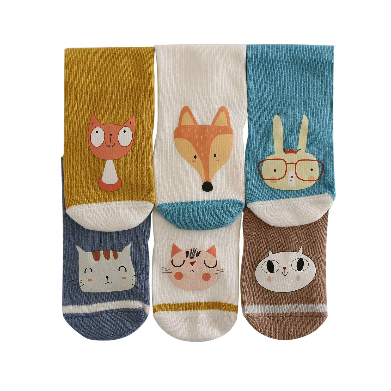 f7e676ba7e1 ... Bestjybt Baby Socks Infants Toddlers Knee Socks Newborn Kids Socks  Animal Knee High Socks Tube Stockings ...