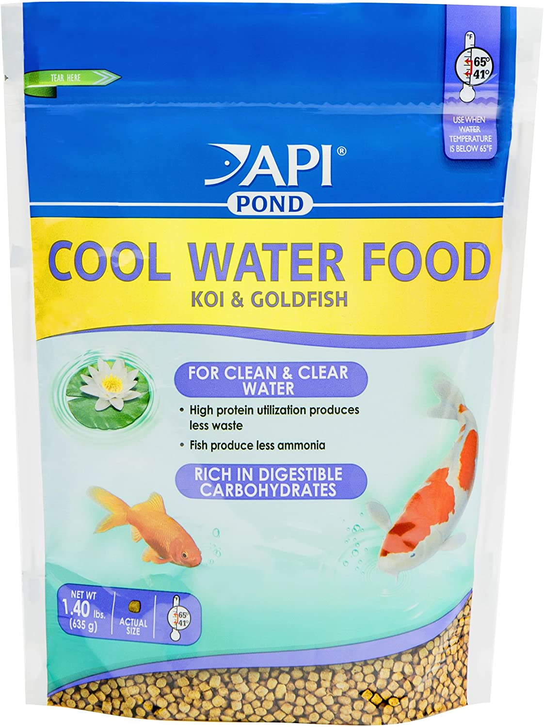 API POND COOL WATER FOOD Pond Fish Food 1.40-Pound Bag
