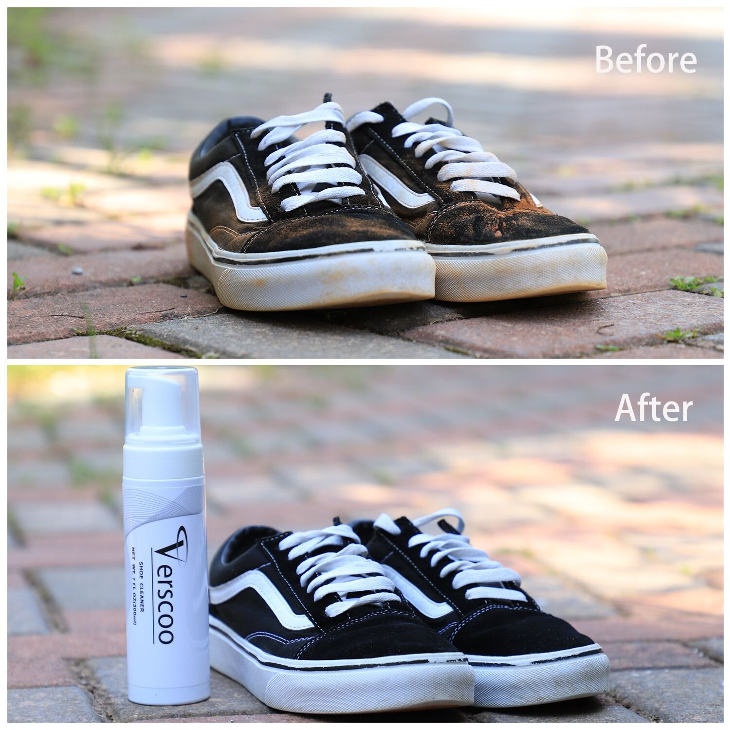 Shoe Cleaner Kit, Verscoo Fabric Cleaner Solution 7 Oz for Leather, Sneaker and Mesh Shoes by Verscoo (Image #3)