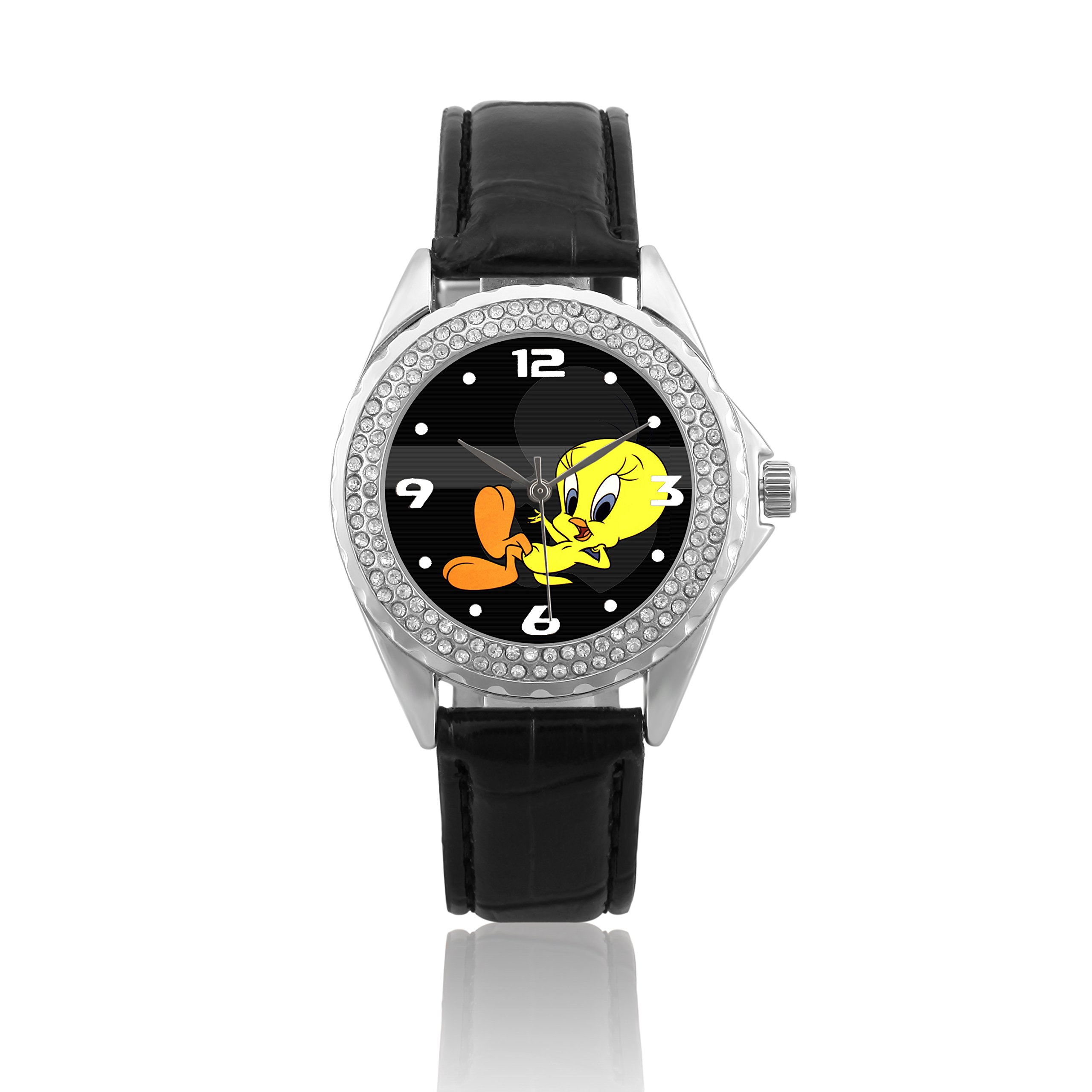 Happy New Year Gifts Wristwatches Crystal USFSC413 Tweety Bird W by Women's Wrist Watches (Image #1)