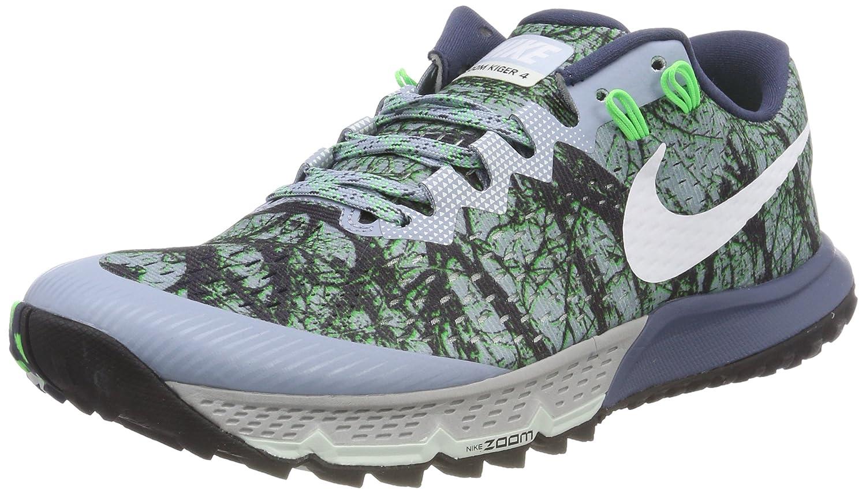 Nike Air Zoom Terra Kiger 4, Zapatillas de Running para Asfalto para Hombre 45.5 EU|Gris (Blue Grey/White-diffused Blue-rage Green 400)