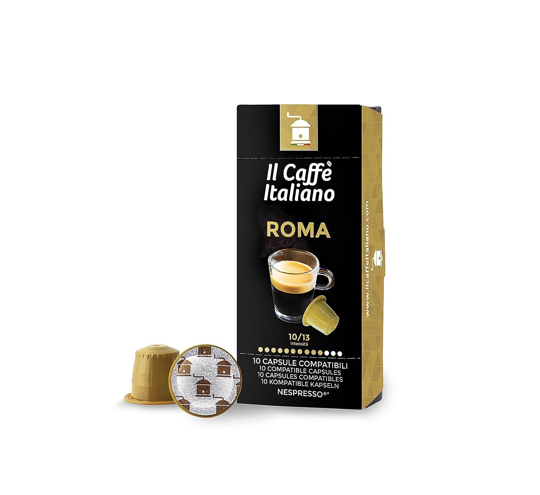 100 Cápsulas de Café compatibles Nespresso - Mezcla Roma - Il Caffè italiano - FRHOME: Amazon.es: Alimentación y bebidas