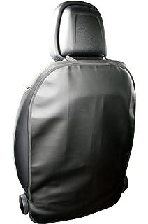 L/&P A081S2 2 St/ück Kunstleder R/ückenlehnenschutz Sitzschoner Lehnenschutz Hecksitzschoner in schwarz mit 3 Taschen Organizer Schutz f/ür Sitzlehne