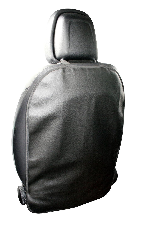 Qualit/é sup/érieure Protection de dossier Adrett Deluxe Cuir synth/étique 69 x 48 cm Fixation /élastique en haut et en bas Noir