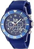 ICE-Watch - Montre Mixte - Quartz Analogique - Ice-Chrono Matte - Blue - Big - Cadran Bleu - Bracelet Silicone Bleu - CHM.BE.B.S.12
