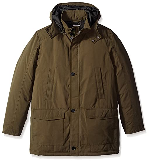 Microfiber parka with removable hood