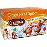 Celestial Seasonings Holiday Herbal Tea, Gingerbread Spice, 20 Count ( 2 Pack )