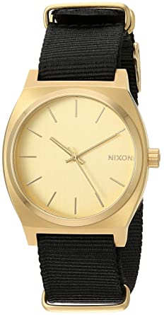 efa7691dc Amazon.com: Nixon Time Teller Nylon (All Gold Face & Black Nylon ...