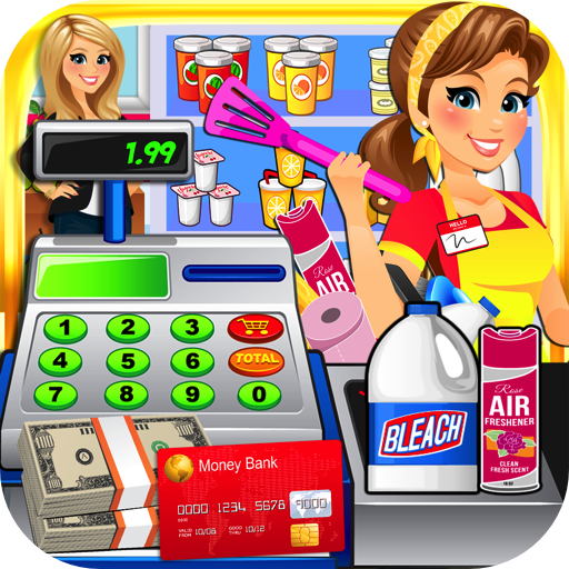 Dollar Store Cash Register Sim - Kids Supermarket Cashier & Shopping Mall Games - New Market Shopping