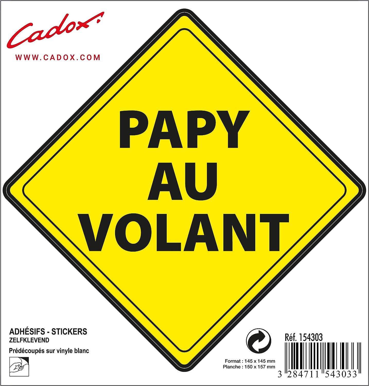 Cadox Adhesif Papy au Volant Losange Jaune