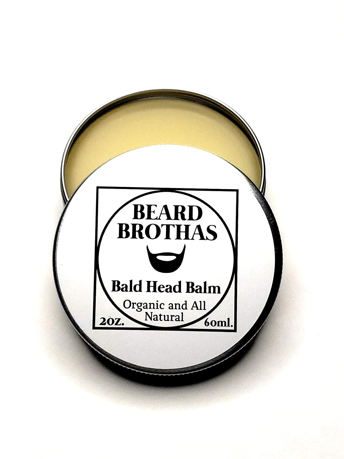 Bald Head Balm Moisturizer. Organic Cold Pressed Unrefined Argan & Jojoba Oil. Shea Butter, Cocoa butter, & Bees Wax for Lasting Shine & Protection. Lightly Scented with an Essential Oil Blend
