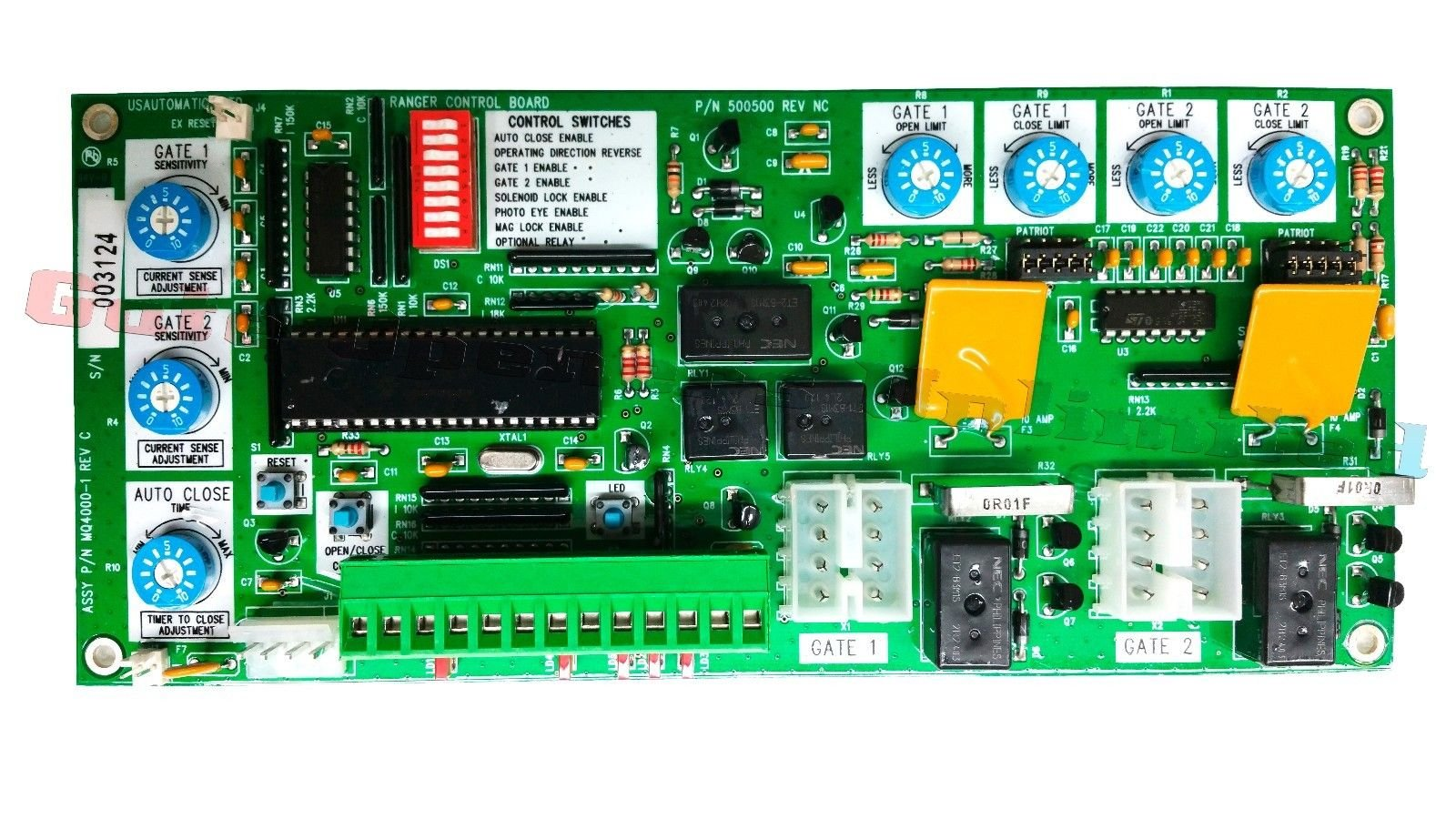 Sentry 300 Control Board, Replacement Circuit Board for Sentry Gate Openers