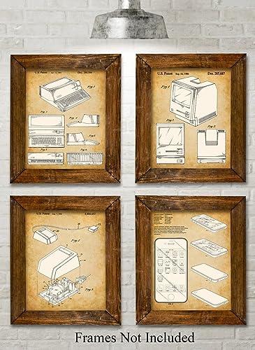 Amazon.com: Original Steve Jobs Computer Patent Art Prints - Set of ...