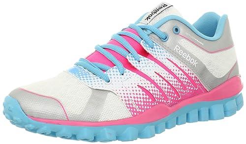 8cbae8cc91c Reebok Women s Realflex Strength TR Cross-Training Shoe White Pink  Zing Watery