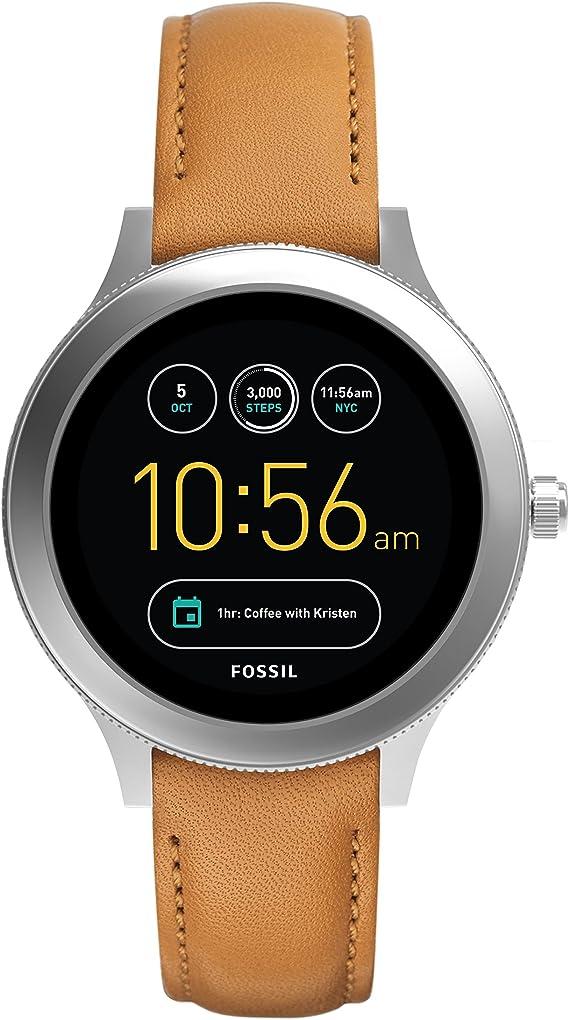 Fossil Smartwatch Mujer de Digital con Correa en Cuero FTW6007 ...