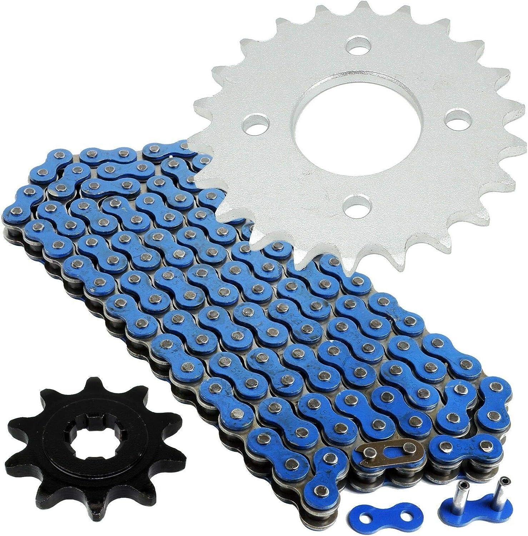 520x36 Drive Chain /& 10//22 Sprockets 89-06 Suzuki Quadsport 80 /& Kawasaki KFX80