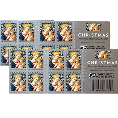 Florentine Madonna and Child USPS Forever First Class Postage Stamp U.S. Holiday Christmas Sheets (20 Stamps) (Booklet of 20 stamps): Office Products