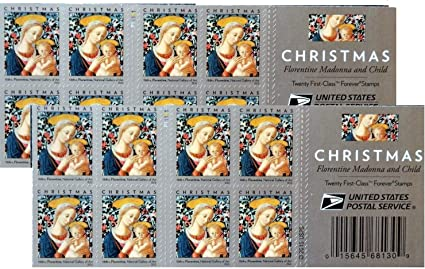 How Much Is The 2020 Madonna Christmas Stamp Thats A Forever Stamp Amazon.com: Florentine Madonna and Child USPS Forever First Class