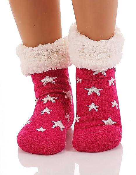 Matyfashion - Calcetines de estar por casa - para mujer rojo fucsia: Amazon.es: Ropa y accesorios