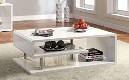 Attractive Furniture Of America CM4057C Ninove I White High Gloss Coffee Tables