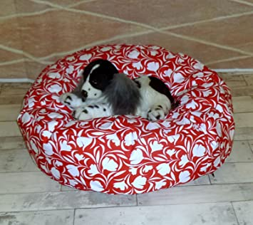 Stupendous Zippy Waterproof 28 Round Bean Bag Pet Dog Bed Red Tulip Pabps2019 Chair Design Images Pabps2019Com