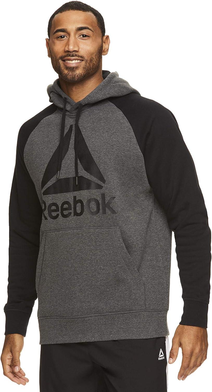Reebok Men's Performance Pullover Hoodie - Graphic Hooded Activewear Sweatshirt