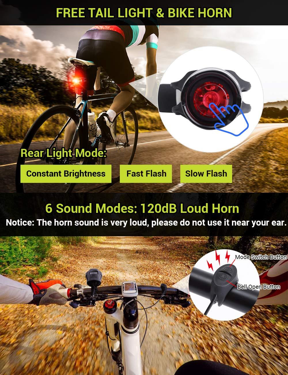 Amazon.com: AIRSOFTPEAK - Juego de luces para bicicleta ...