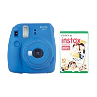 instax Mini 9 Camera with 30 Shots - Cobalt Blue