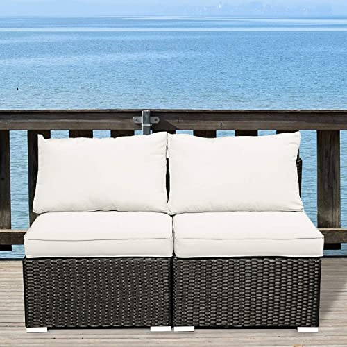 GDY Outdoor Patio Furniture Sets 2/3/5/7/12 Pieces PE Rattan Wicker Sectional Sofa Set