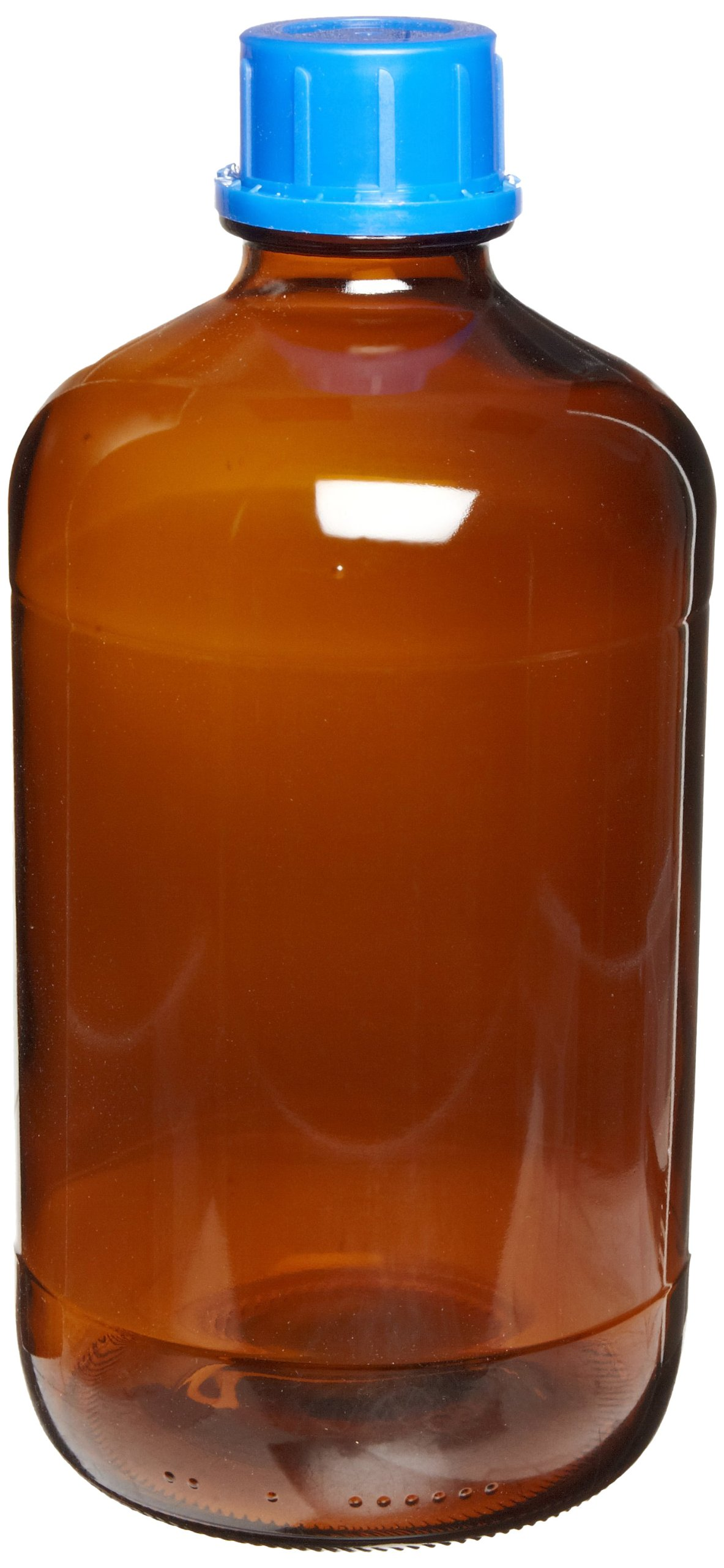 Scilogex 17400038 Amber Borosilicate Glass Autoclavable Bottle, 45mm Neck Diameter, 2.5L Capacity