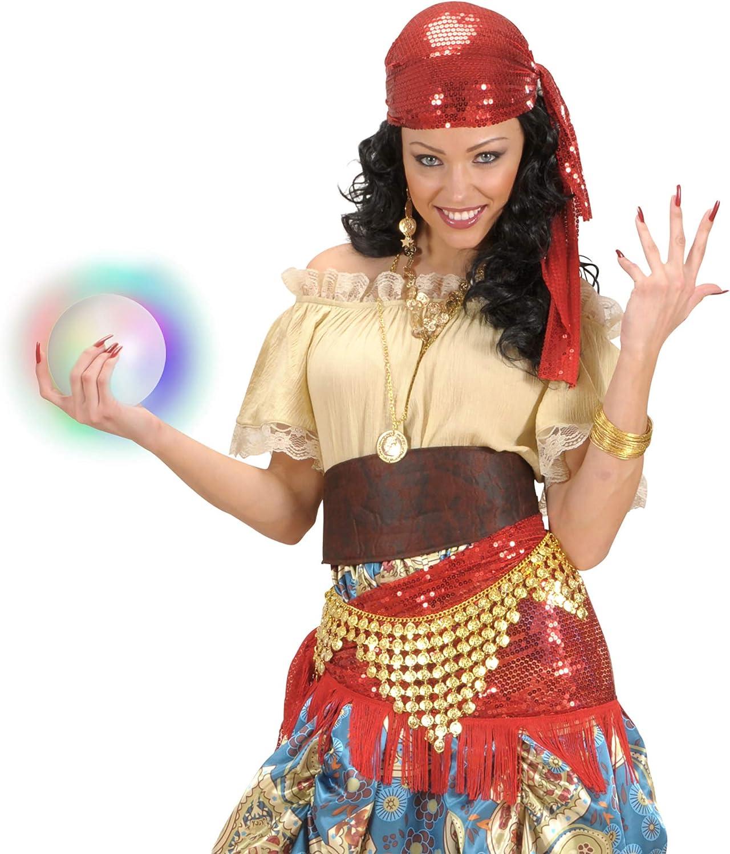 WIDMANN- Bola de cristal luminosa, Color transparent, Talla única ...