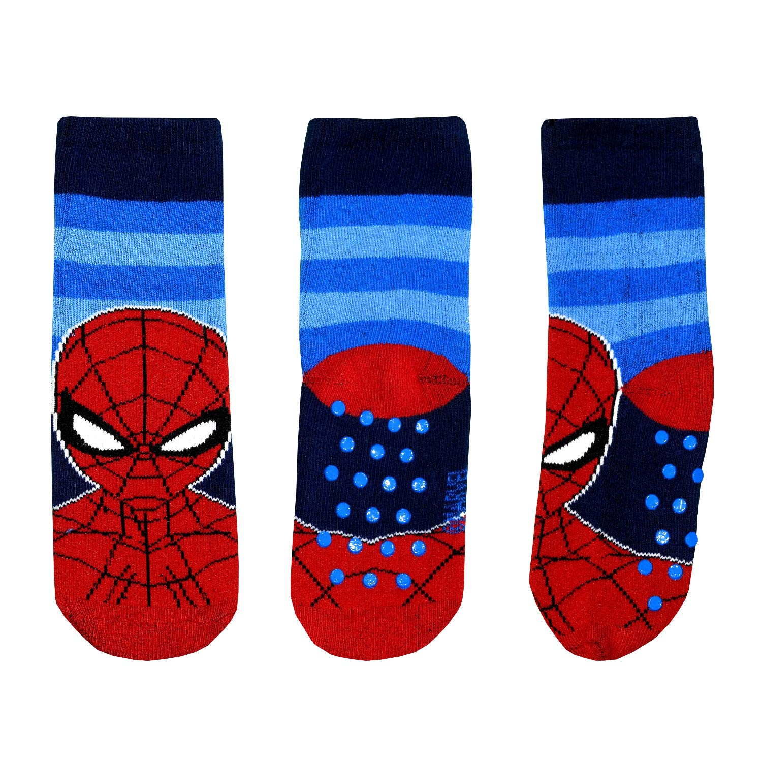 Non Slip Grip Socks Boys Kids Children Spiderman 2-7 Years Cotton Red Black Blue Disney Marvel …