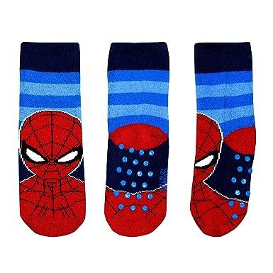 socks Calcetines Antideslizantes Spiderman Para Niño 2-7 años Algodón Rojo Negro Azul Disney Marvel Avengers: Amazon.es: Ropa y accesorios