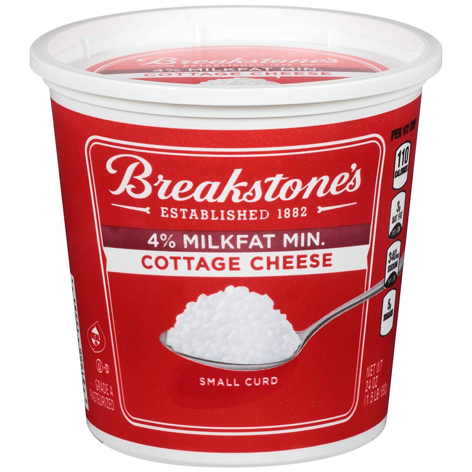 Excellent Breakstone 4 Small Curd Cottage Cheese 24 Oz Download Free Architecture Designs Rallybritishbridgeorg