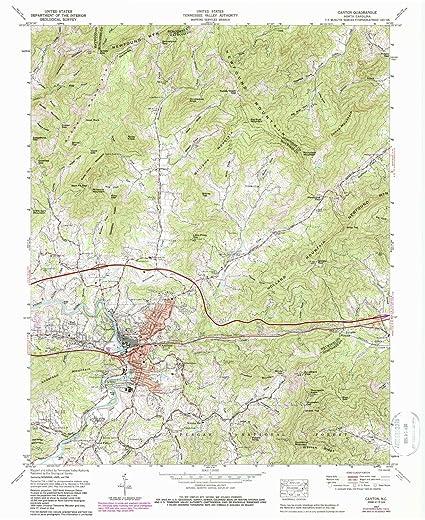 Amazon Com Yellowmaps Canton Nc Topo Map 1 24000 Scale 7 5 X 7 5