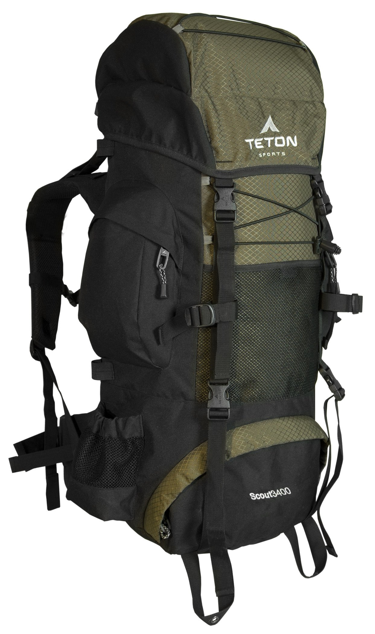 TETON Sports Scout 3400 Internal Frame Backpack; High Performance Backpack for Backpacking, Hiking, Camping
