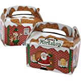 Dozen Santa's Workshop Cardboard Treat Boxes