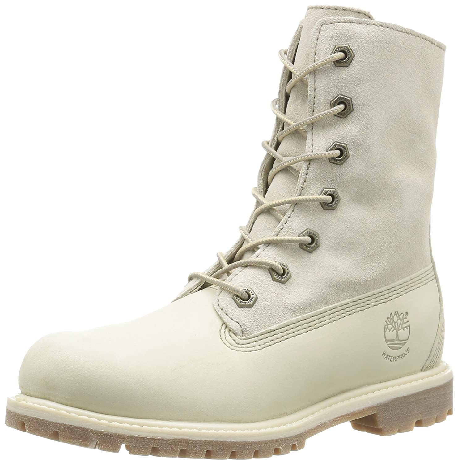 Timberland Auth Tedy Flce Flce Wp, Tedy Boots femme Auth Blanc (Winter White) 73992ee - shopssong.space