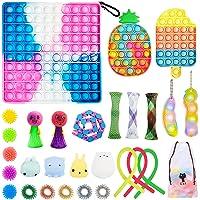 28 Pcs Fidget Toys Set, Cheap Sensory Fidget Toy Pack, Stress Relief Hand Toys for Adults Kids, Fidget Box with Big Size…