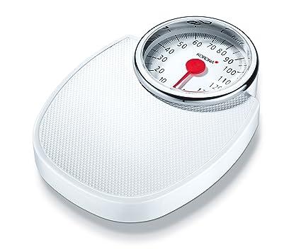 Korona Profimed mech - Báscula de baño mecánicas - blanco cromado, escala hasta 150 kg