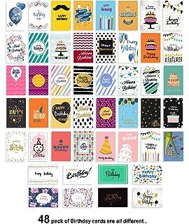 Amazon.com: Tarjetas de cumpleaños surtidas con 30 diseños ...