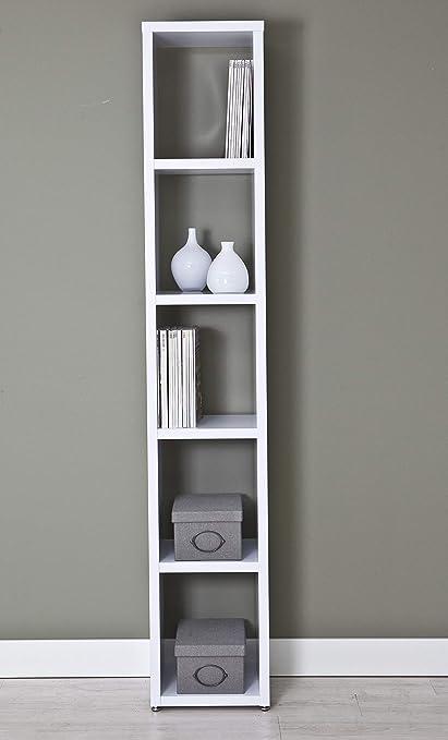 Top Kit | Estanteria Florencia 6501 | Medidas 36,5 x 208 x 33,5 cm | Estantería Libros | Estantería Decorativa | Blanco