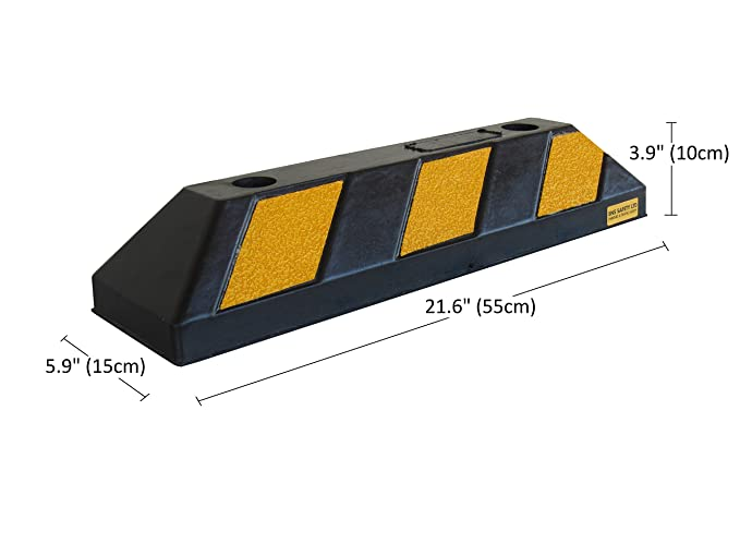Amazon.com: Parking Stopper for Garage Floor, Blocks Car Wheels as Parking Aid and Stops The Tires, Acting as Rubber Parking Curbs That Protect Vehicle ...