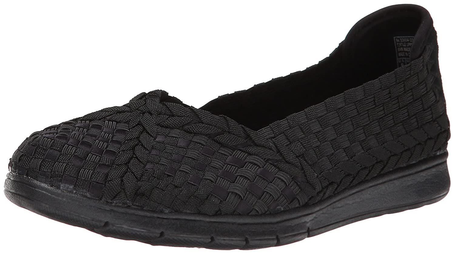 Skechers BOBS from Women's Pureflex Fashion Slip-On Flat B00L32CYIA 5.5 M US|Black/Black