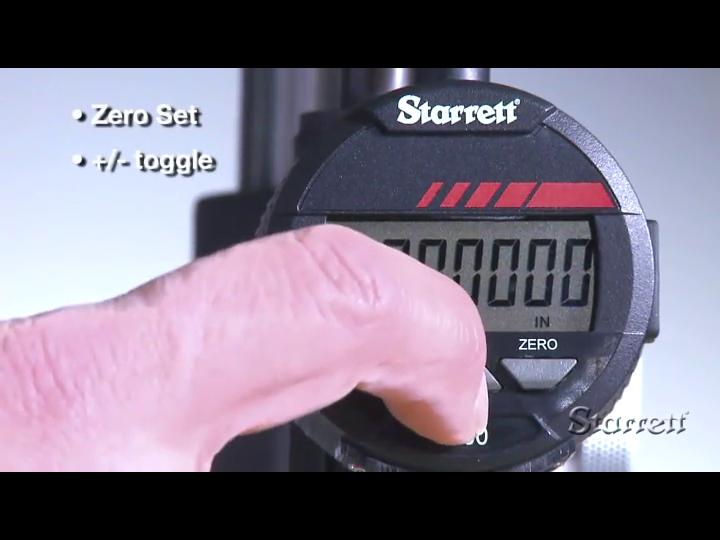 0.0001//0.002mm Graduation 0-0.5//0-12mm Range 0.375 Stem Dia Starrett 2900-2 LCD Electronic Indicator