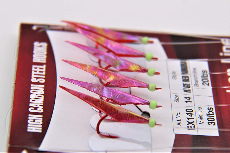 Hayabusa Sabiki Seaguar Red Fishing Hook EX140 Select Size
